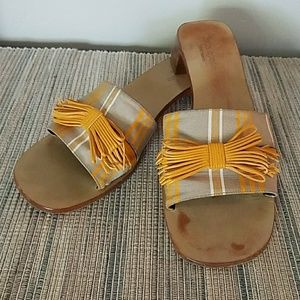 💎RARE💎 Kate Spade Gold and Nude Mule Slides